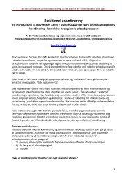 Relationel koordinering - en teoretisk introduktion - fair proces