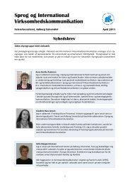 Download nyhedsbrev april 2011 (pdf) - Netværk om Sprog og ...