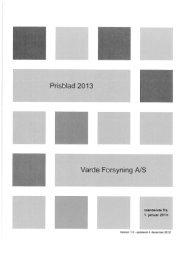 Prisblad Varde Forsyning 2013