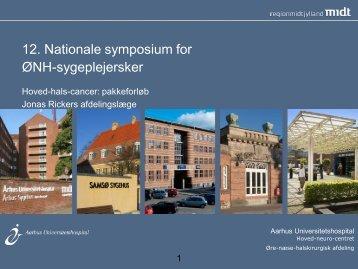 12. Nationale symposium for ØNH-sygeplejersker