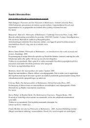 Samlet litteraturliste: - Uvmat