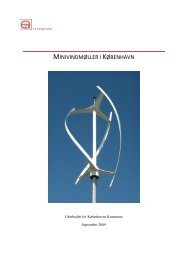MINIVINDMØLLER I KØBENHAVN - Ea Energianalyse a/s