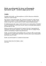 Studie- og ordensregler for elever ved Espergærde Gymnasium og HF