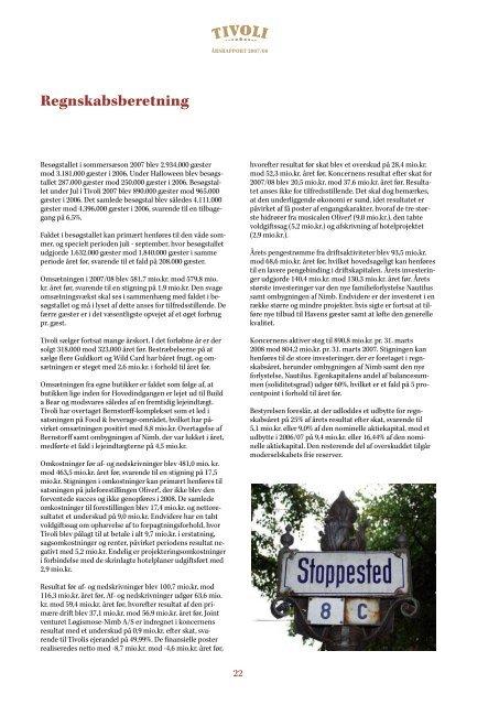 Årsrapport 2007/08 - Tivoli