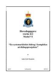 En systemarkitekts bidrag i komplekse ... - Luftkrigsskolen
