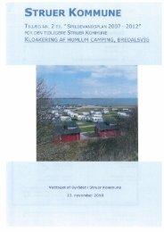 Tillæg nr. 2 til spildevandsplan 2007-2012 for - Struer kommune