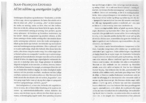 Lyotard Det sublime og avantgarden