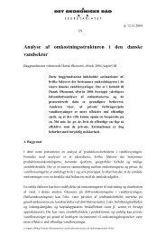 Analyse af omkostningsstrukturen i den danske vandsektor