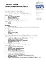 Liste over service og vedligeholdelse med fradrag - Byggefirma ...