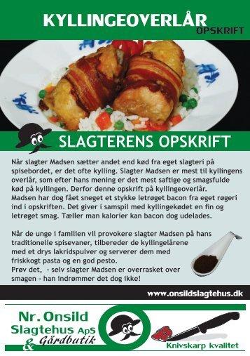 KYLLINGEOVERLÅR - Onsild Slagtehus