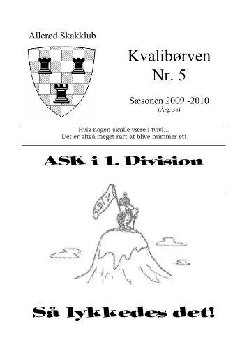 Kvalibørven Nr. 5 Så lykkedes det! - Allerød Skakklub