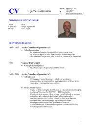 Læs Bjarne Rasmussens CV før - Jobindex