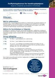AMU-forflytningskurs.. - Klubben for Brugere og Hjælpere i Nordjylland