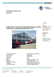 Ulsted vinduer og Døre A/S godkendelse - Aalborg Kommune