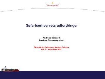 Søfartsstyrelsens direktør Andreas Nordseth - Skibsteknisk Selskab