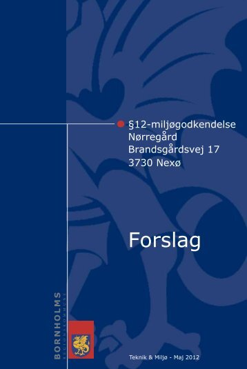 Kolofon: Bornholms Regionskommune; Oktober 2009