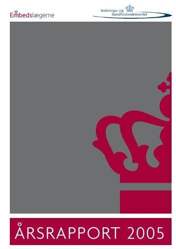 Embedslægevæsenet i 2005 - Sundhedsstyrelsen