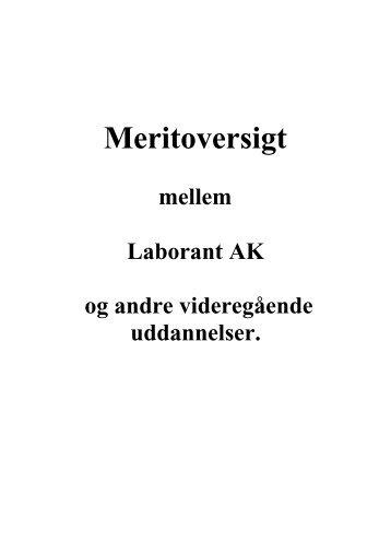 Merit aftaler mellem Laborant og andre vidergående ... - Selandia CEU
