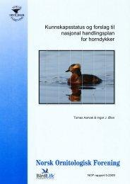 Kunnskapsstatus og forslag til nasjonal handlingsplan for horndykker