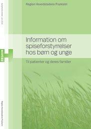 Information om spiseforstyrrelser hos børn og unge - Region ...
