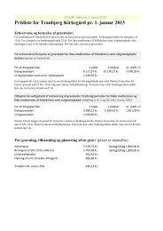 Prisliste for Tranbjerg Kirkegård pr. 1. januar 2013