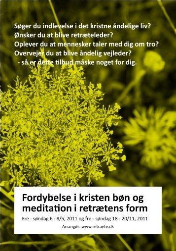 Fordybelse i kristen bøn og meditation i ... - Diakonforbund.dk