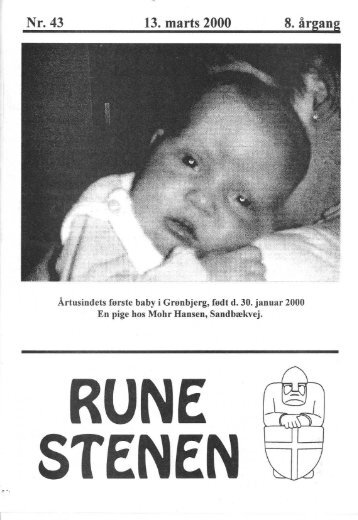 Nr. 43 13. marts 2000 8. årgang - Runestenen