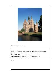 De danske kongers kronologiske samlinger - Kulturstyrelsen