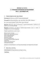 Referat af KTO's 17. ordinære repræsentantskabsmøde den 17 ...