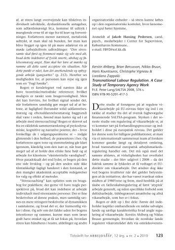 Transnational Labour Regulation. A Case Study ... - Nyt om Arbejdsliv