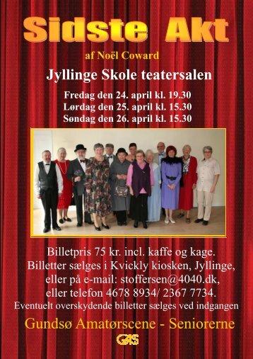 Jyllinge Skole teatersalen Gundsø Amatørscene - Seniorerne