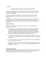 Tag-hjem delen af eksamen i Kvantitative metoder 2