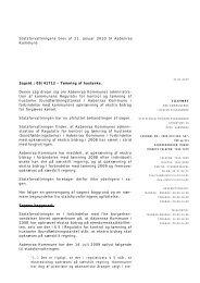 2010-01-21 Aabenraa Kommune - Statsforvaltningen