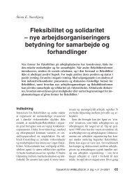 Fleksibilitet og solidaritet – nye ... - Nyt om Arbejdsliv