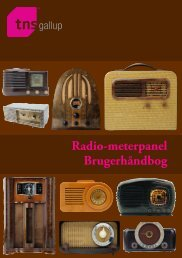Radio-meterpanel Brugerhåndbog - TNS Gallup