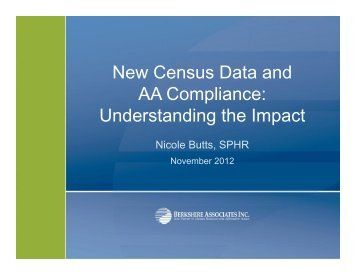 New Census Data and AA Compliance ... - Azquada.org