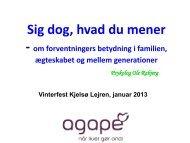 Ole Rabjerg: Sig dog hvad du mener - Agape