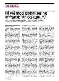 På vej mod globalisering af fransk 'drikkekultur'? - Stof