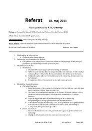 Referat 18. maj 2011