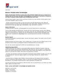 Benzin: Prisdyk letter feriebudget (PDF) - Spar Nord