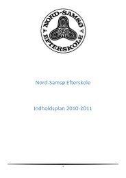 Nord-Samsø Efterskole Indholdsplan 2010-2011
