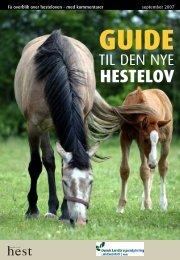 Guide til den nye hestelov