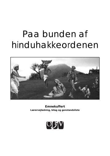 Paa bunden af hinduhakkeordenen - Oplysningscenter om den 3 ...