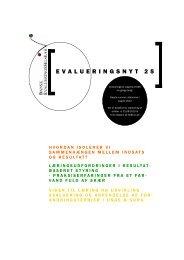EVALUERINGSNYT 25 - Niels Hoffmann Haahr