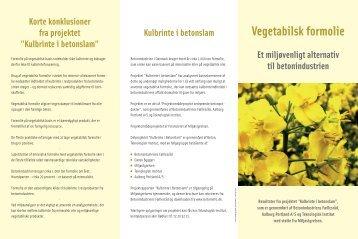 Vegetabilsk formolie Et miljøvenligt alternativ til ... - Dansk Beton