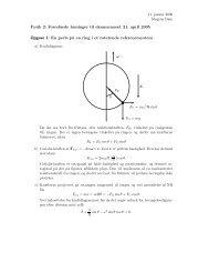 Fysik 2: Foresl˚aede løsninger til eksamenssæt 21. april 2005 ...