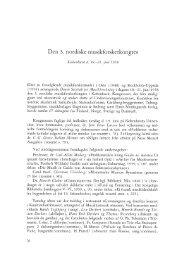 Danish Yearbook of Musicology 1 • 1961 / Dansk årbog for ... - dym.dk
