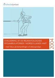 evaluering af de reumatologiske rygambulatorier i nordjyllands amt