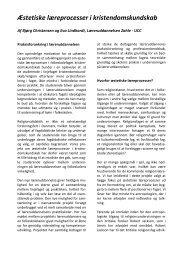Download artikel om projektet - Læreruddannelsen Zahle