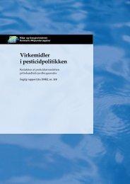 Virkemidler i pesticidpolitikken - DCE - Nationalt Center for Miljø og ...